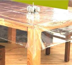 clear plastic table cover protector round covers