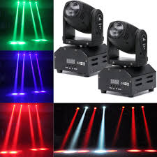 Used Moving Head Stage Lights 2 Pack 50w Rgbw Led Beam Moving Head Stage Lighting Dmx512 Dj Disco Party Light