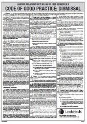 Dismissal Chart Law Of Dismissal Chart