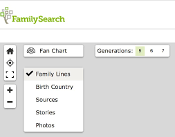 Familysearch Family Tree New Discovery Fan Chart View