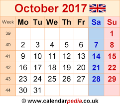 calendar october 2017 uk bank holidays excel pdf word templates
