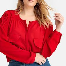 <b>Рубашка</b> с круглым вырезом и длинными рукавами красный <b>La</b> ...