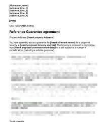 Sample Home Rental Agreement Proposed Guarantor Covering Letter For Signing Guarantee Agreement ...