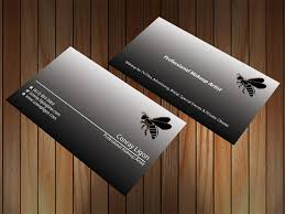 professional business card for male makeup artist