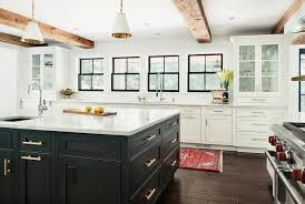black oak kitchen island with brass pulls transitional throughout remodel 17