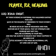 Christian Prayer For Healing Quotes Best of Free Spiritual Healing Prayers
