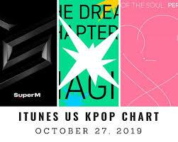 Itunes Us Itunes Kpop Chart October 27th 2019 2019 10 27
