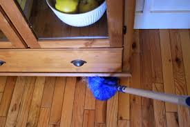 dusting wood furniture. sweep dusting wood furniture