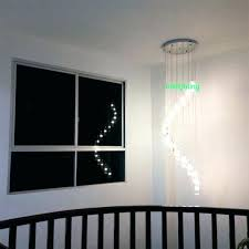 staircase hanging lights chandelier for high ceiling long chandeliers staircase crystal spiral chandelier lighting flush mount