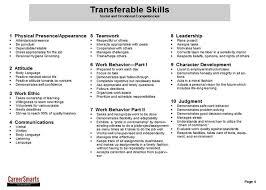 resume soft skills example