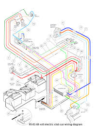 Club car electric golf cart wiring diagram and a89 94ez with 48 volt