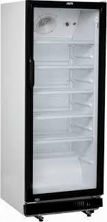 saro drinks fridge with glass door