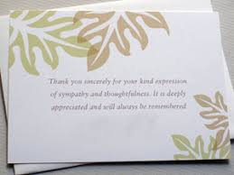 Thank You After Funeral Cragman Writing Thank You Notes After The Funeral