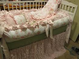 image of shabby chic fl crib bedding