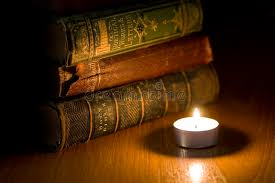 old books by candle light stock image image of pages 4382018