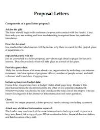 Proposal Letter Examples 50 Samples In Pdf Doc Examples