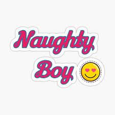 Naughty Boy Stickers | Redbubble