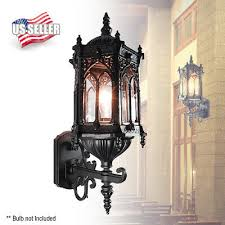 oil rubbed matte black finish exterior outdoor wall lantern light clear glass