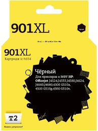 <b>Картридж</b> T2 IC-H654 № <b>901XL</b> (<b>CC654AE</b>/654) для <b>HP</b>, черный ...