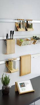 ikea rimforsa steel strips with bamboo holders fresh kitchen wall