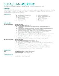 Aircraft Mechanic Resume Examples Sheet Metal Mechanic Resume Emelcotest Com