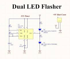circuit planning create a dual flashing led circuit on protoboard picture of led circuit diagram schematic