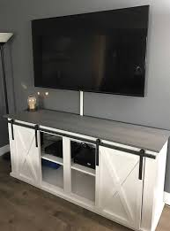 sliding barn door tv stand a console in tv idea 6