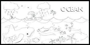 Ocean Coloring Pages For Kindergarten Ocean Coloring Pages For