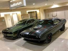 2018 dodge green. perfect 2018 rear view 2018 dodge srt challenger demon in f8 green with painted black  satin graphics package in dodge green