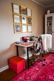 colorful feminine office furniture. This Young Professional\u0027s Modern And Colorful Home Office Is #GirlBossGoals! Feminine Furniture