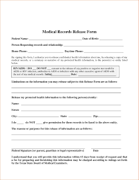 Medical Records Release Form Example Medical Records Release Form Template Thebridgesummit Brilliant 7
