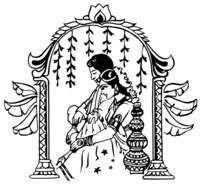 hindu dulha dulhan clipart