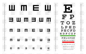 Snellen Eye Test Charts For Children And Adults Stock Vector Image