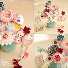 Paper Flower Arrangements Bust Of Colors And Free Spirit For New Paper Flowers Arrangements