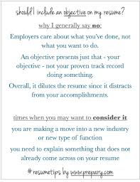 Should A Resume Have An Objective Jmckell Com