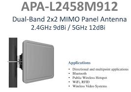 Alfa Network Apa L2458m912 Mimo Panel Antenna 24ghz 5ghz 12 Dbi