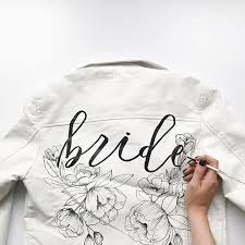 custom bride jacket by alli k design