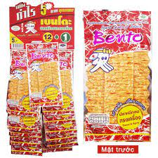 Bánh Kẹo Thái Lan】Khô mực Bento dây mùi vị ngọt cay 12 + 1 thái lan
