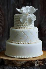 Quilted Gold Pearls Elegant Wedding Cake The French Gourmet