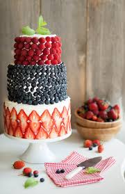 berry covered cake