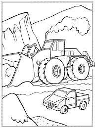 Kraan Kleurplaat Bouwvoertuigen Kleurplaten Hijskraan
