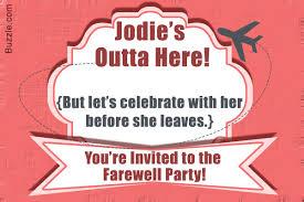 019 Farewell Party Invitations Templates Invitation Wording