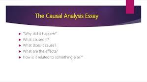 causal analysis essay draft an outline for their essay 3 the causal