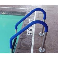 grip for pool handrails in blue