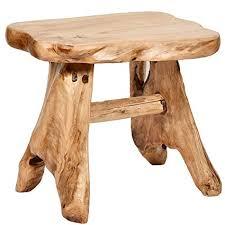 natural wood bench. Fine Wood WELLAND Natural Wood IndoorOutdoor Stool Cedar Garden Bench Throughout