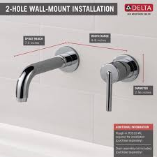 delta trinsic 1 handle wall mount