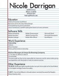 My First Resume Resume Templates