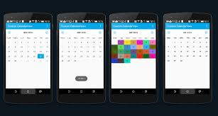 Customizable Calendar 2015 Custom Calendar View Library In Android Stacktips