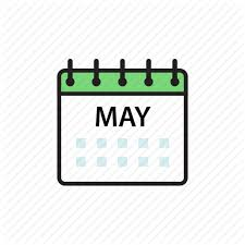 calendar for the month of may iconfinder office by kseniya sazonova