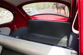 vw standard bug luggage area cardboard the rear seat cover bar is grey black l43